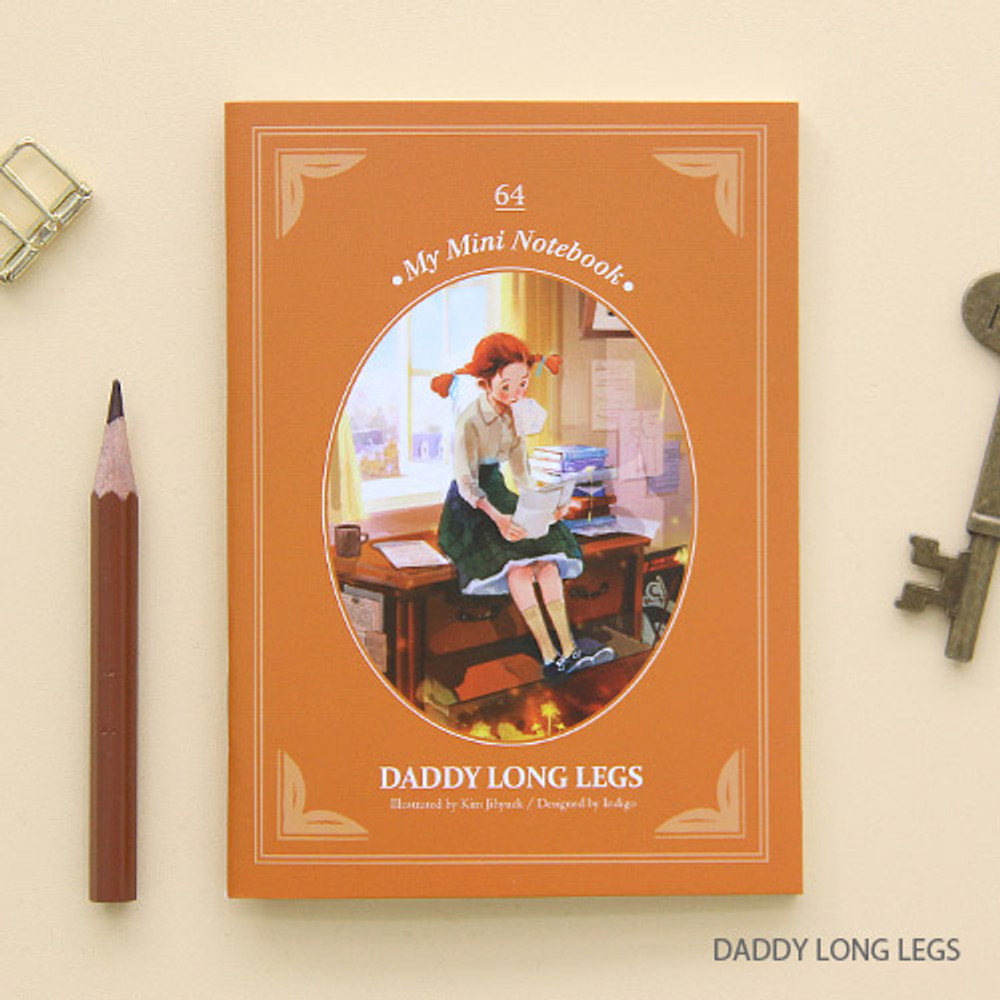 Daddy long legs - Classic story small lined notebook