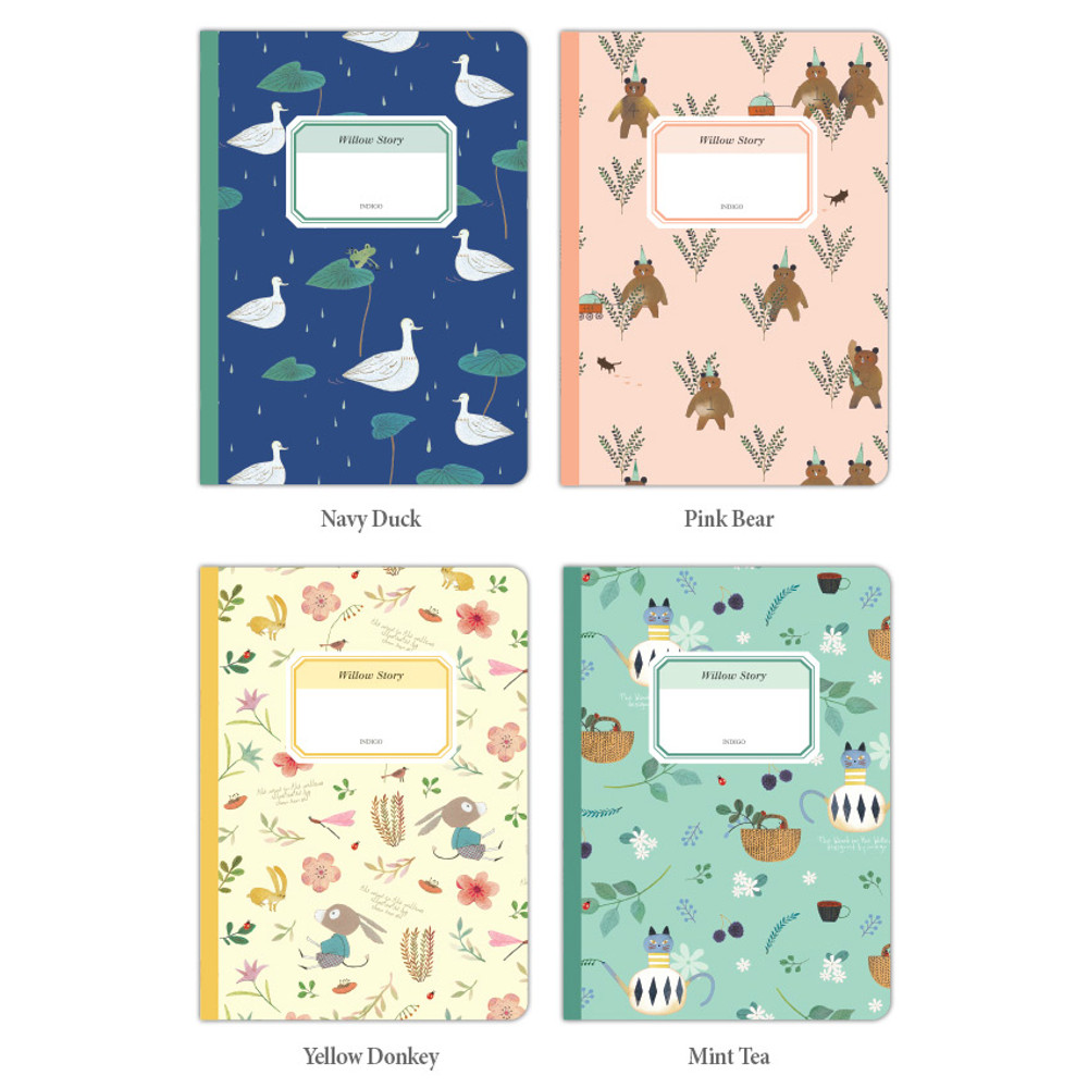 Option of Willow story pattern small lined notebook