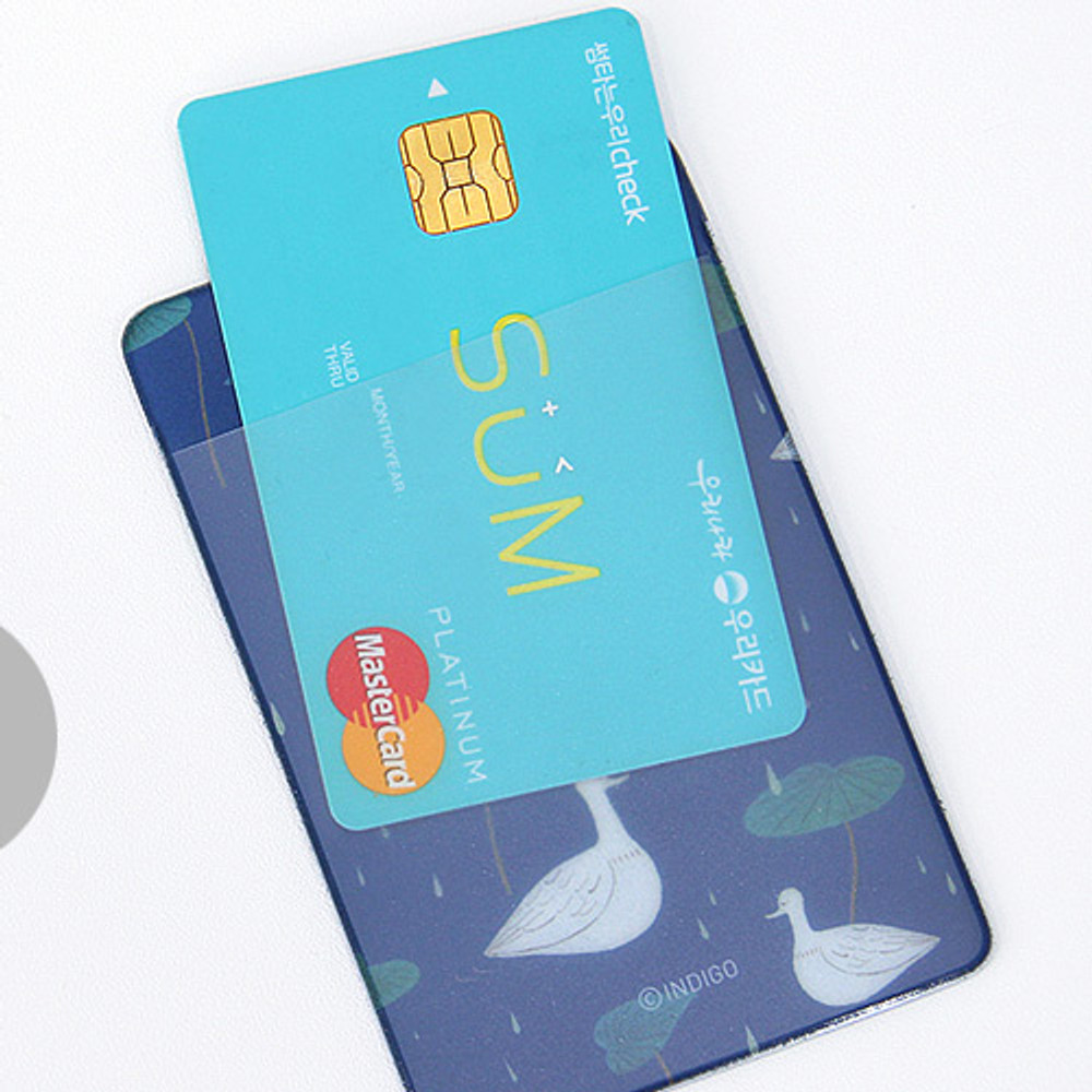 Back - Soft flat card holder with rubber strap