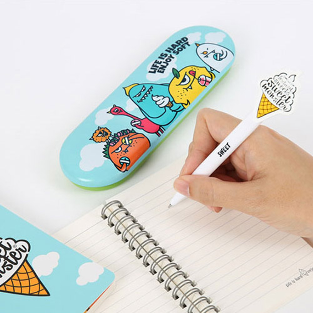 Sweet monster tin pencil case