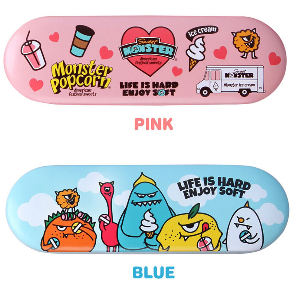 Colors of Sweet monster tin pencil case