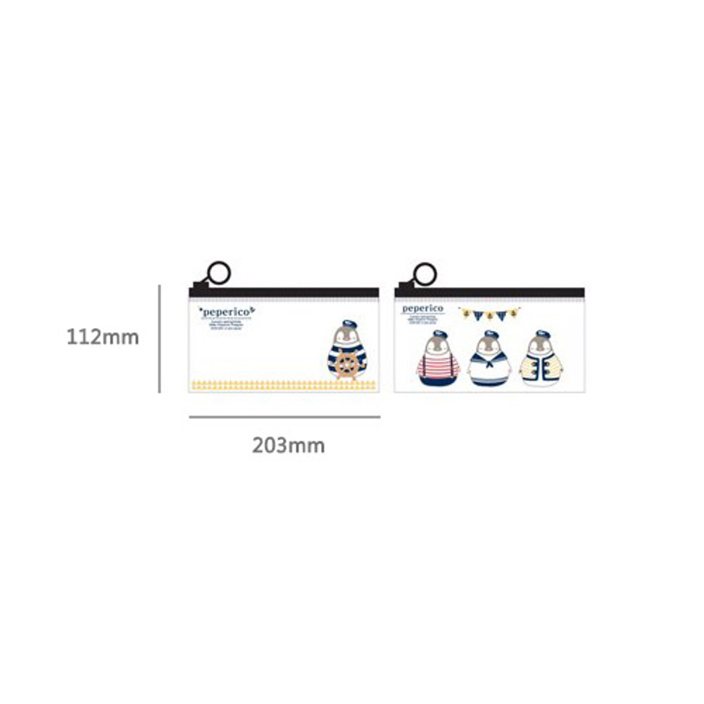 Size of Peperico clear zip lock small pouch