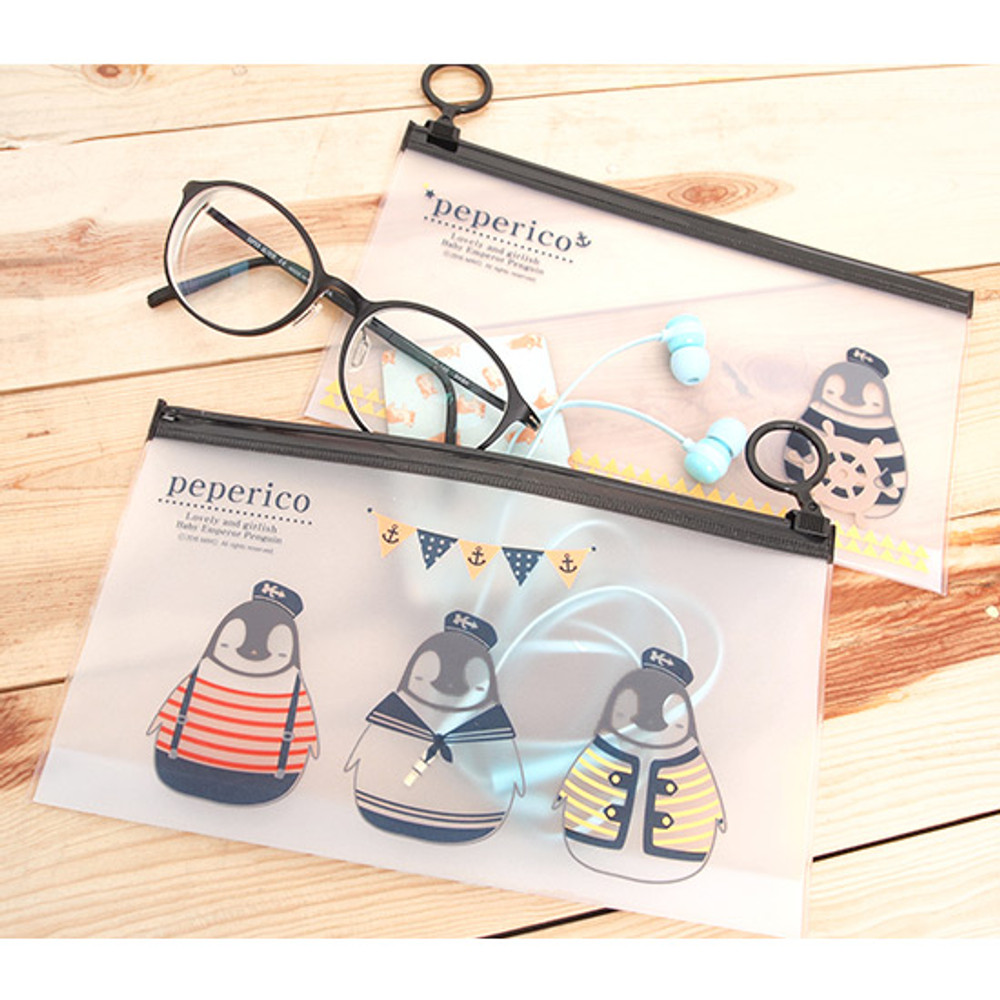 Peperico clear zip lock small pouch