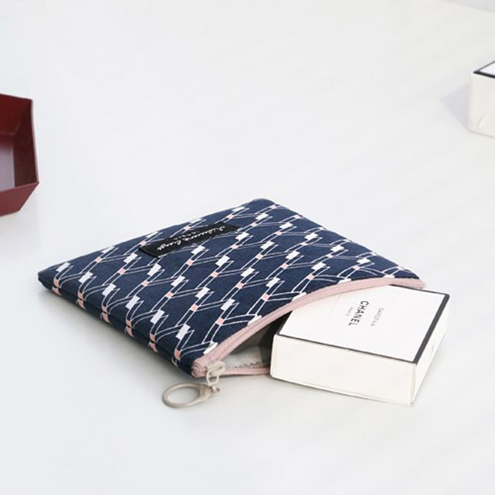 Angle - Comely pattern small flat pouch