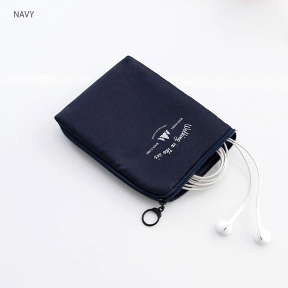 Navy - Walking in the air medium cable pouch