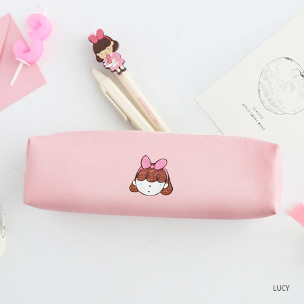 Lucy - Hellogeeks petite zipper pencil case