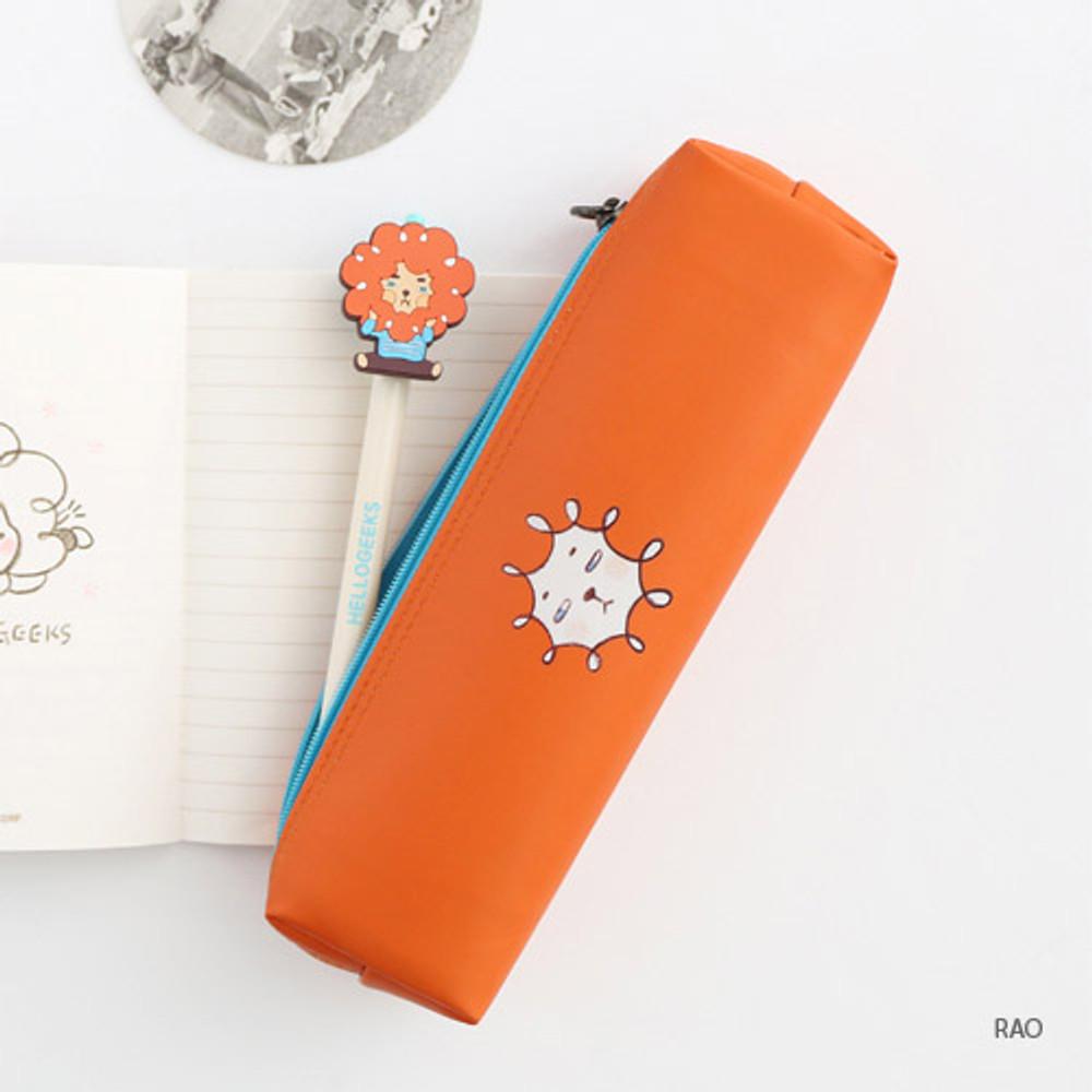 Rao - Hellogeeks petite zipper pencil case