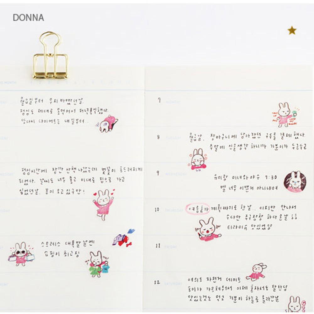 Donna - Hellogeeks petite deco sticker