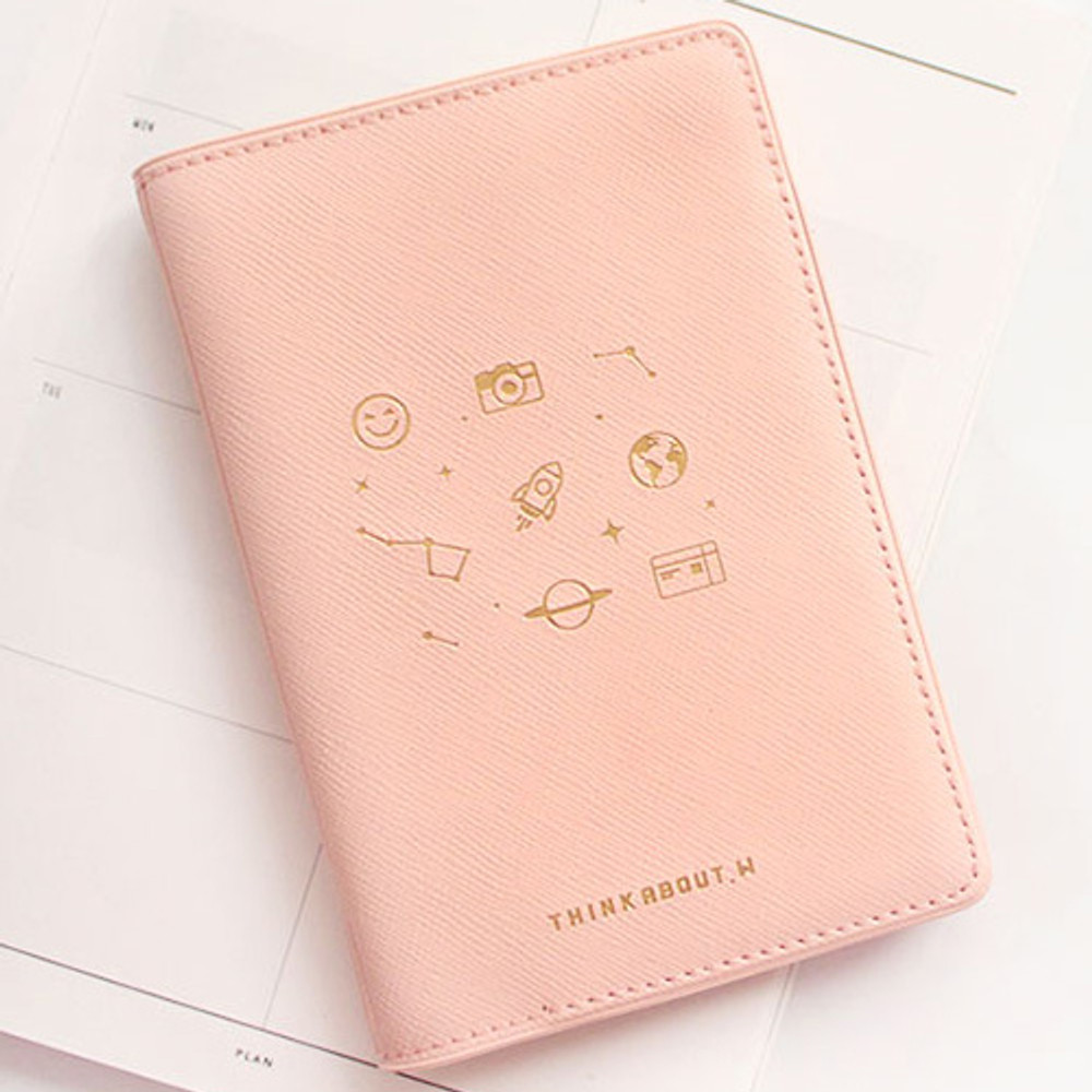 Baby pink - Twinkle RFID blocking passport cover