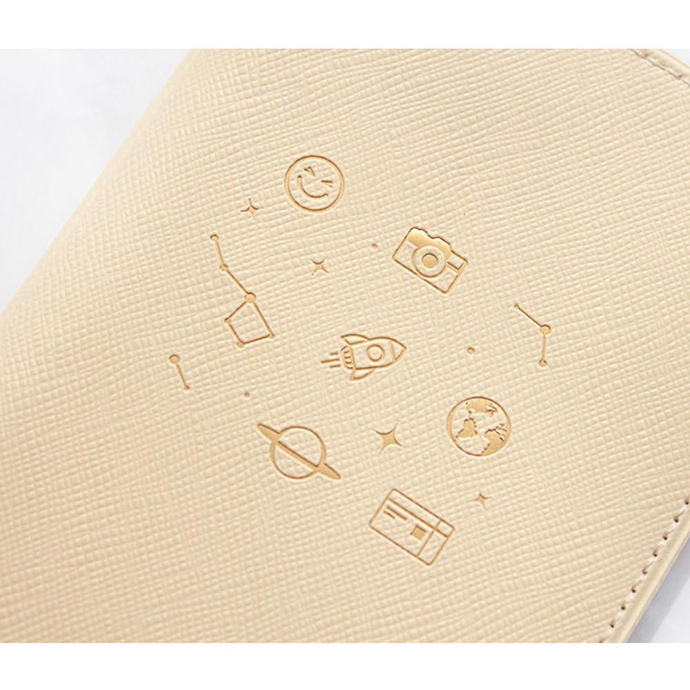 Detail of Twinkle RFID blocking passport cover