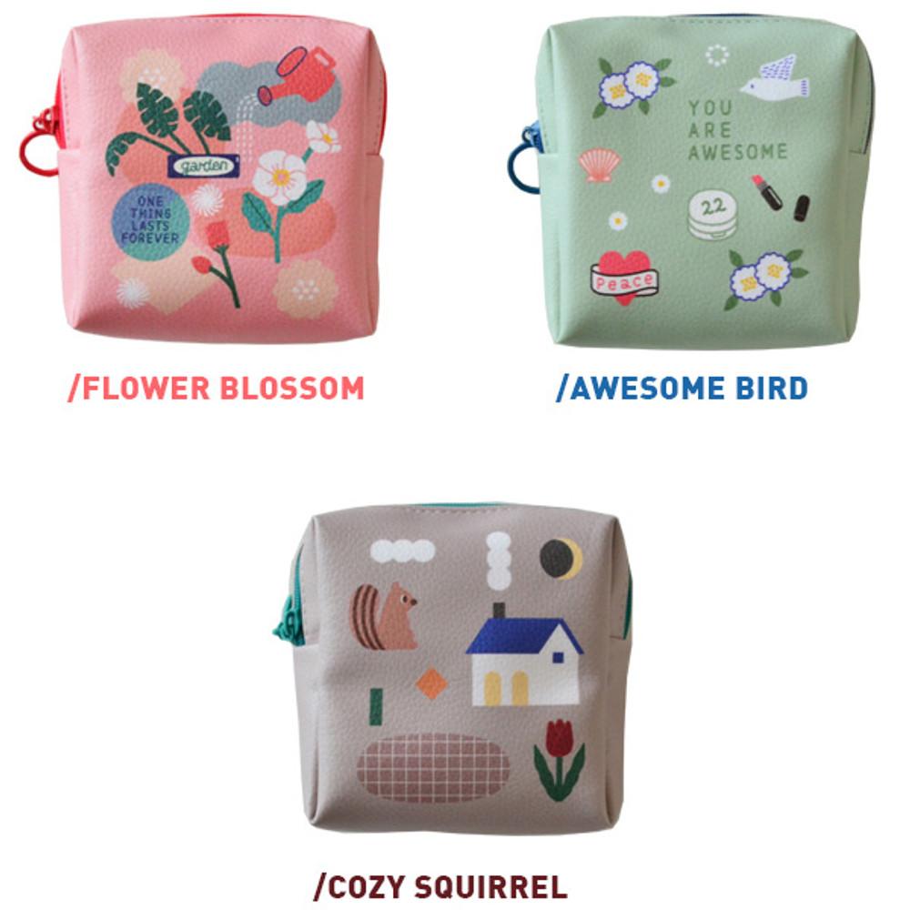Option of Du dum charming illustration zipper pouch