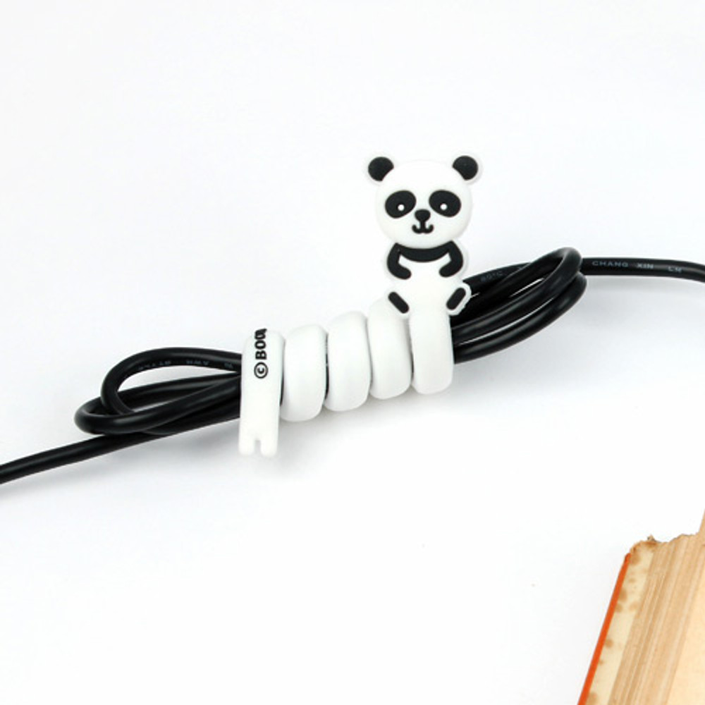 Panda - Animal rubber cable & earphone organizer