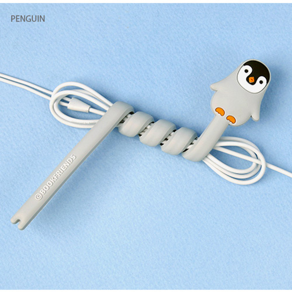 Penguin - Animal rubber cable & earphone organizer