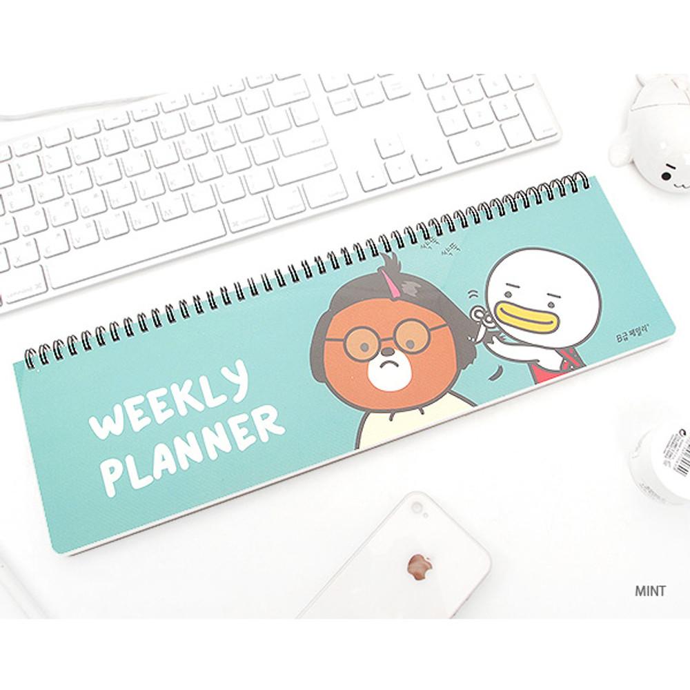 Mint - B family wirebound undated weekly planner