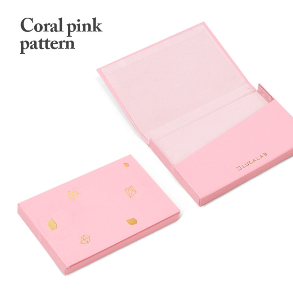 Coral pink pattern - Lapis simple paper card case