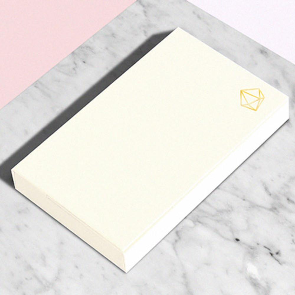 Snow white - Lapis simple paper card case