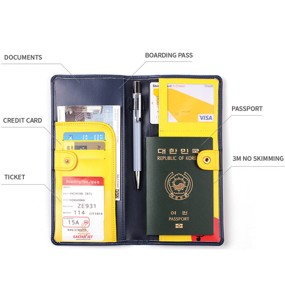 Everymonster travel long passport case