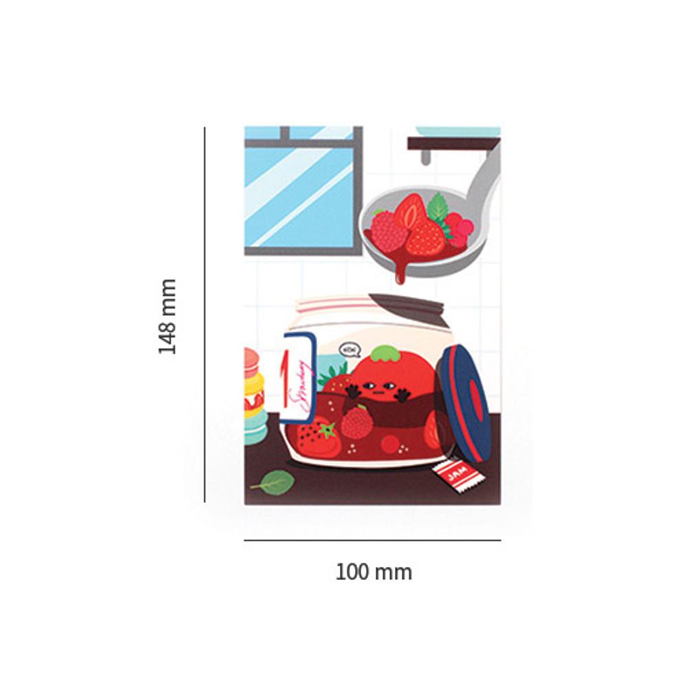 Size of Everymonster illustration postcard
