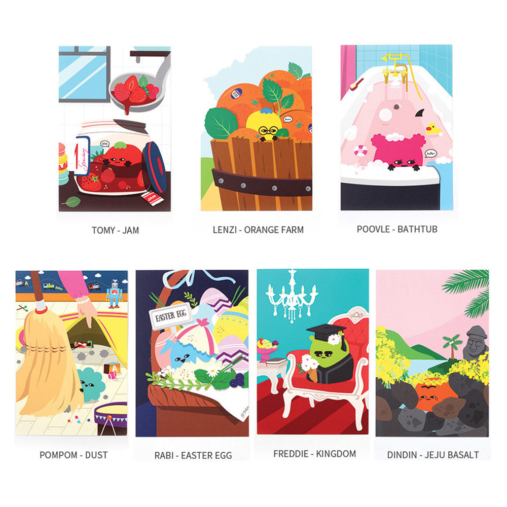 Everymonster illustration postcard