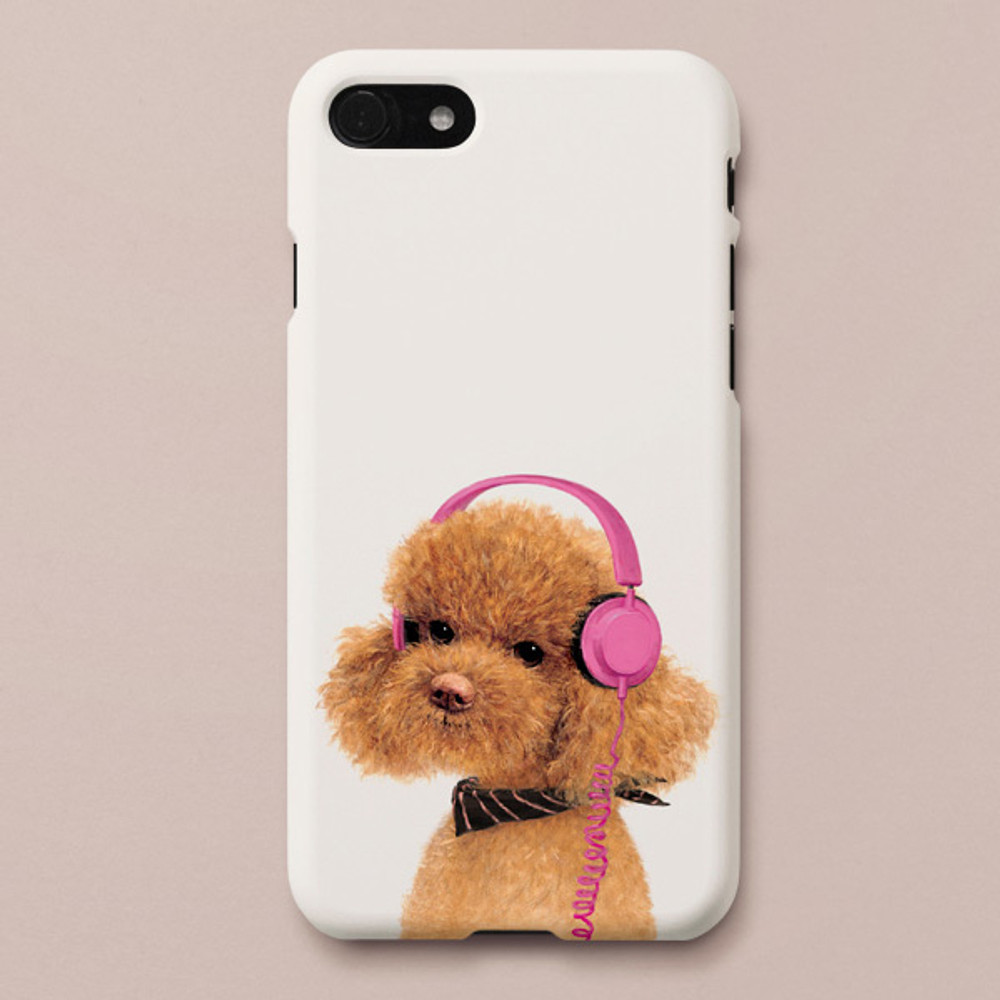 Poodle Amy polycarbonate iPhone case