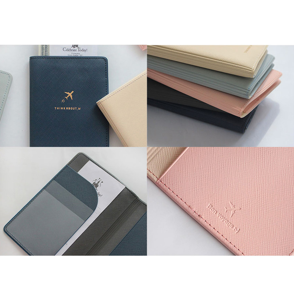 Detail of Think about soft RFID blocking passport cover