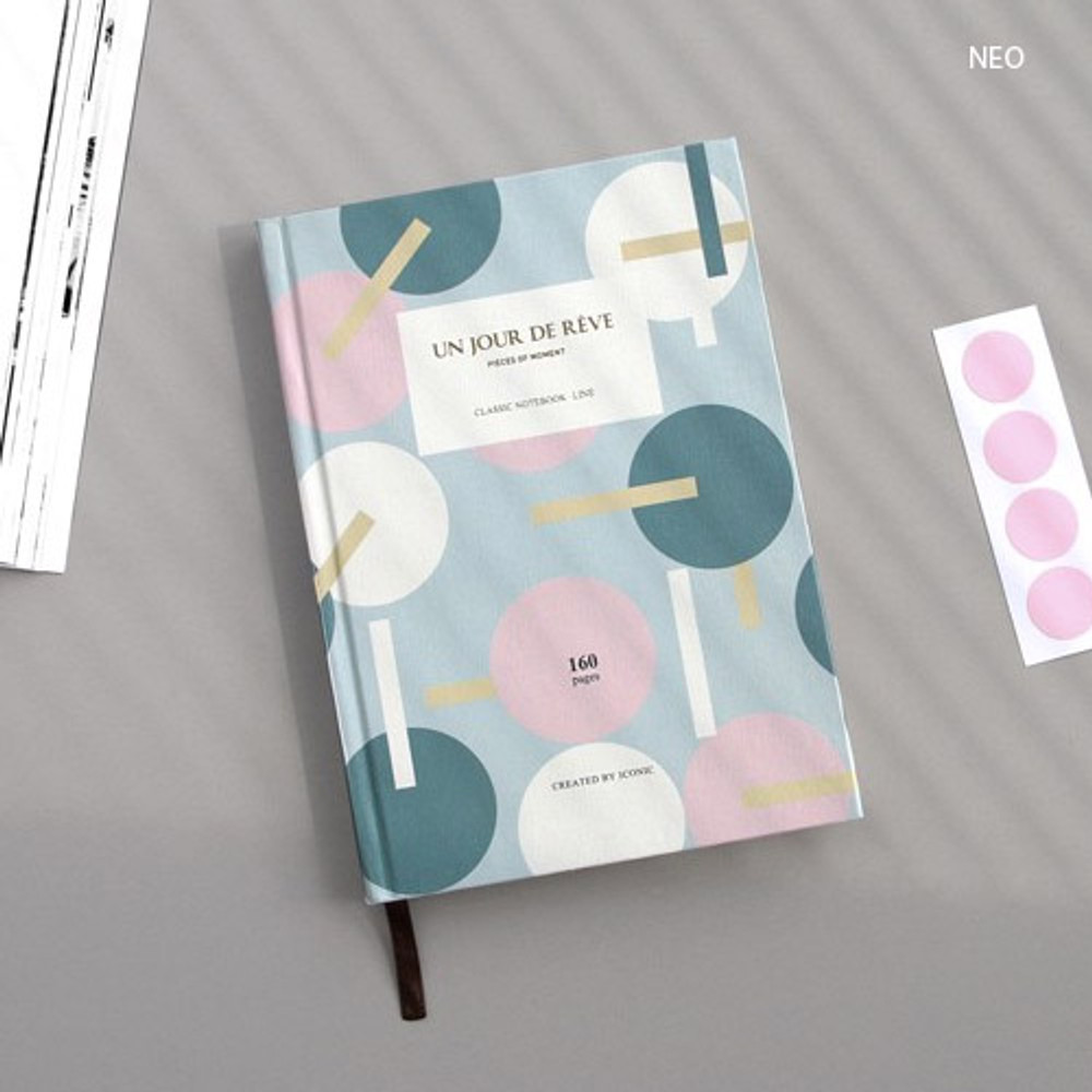 Neo - Pattern classic hardcover lined notebook