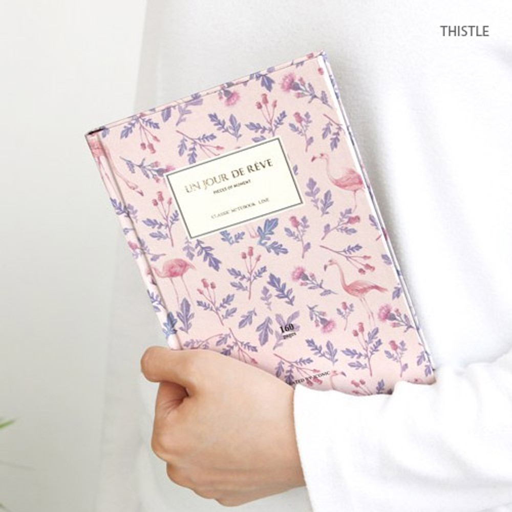 Thistle - Pattern classic hardcover lined notebook