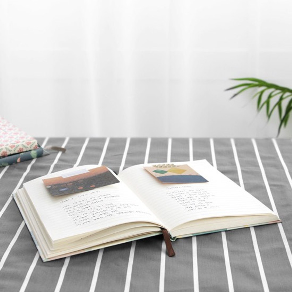 Pattern classic hardcover lined notebook