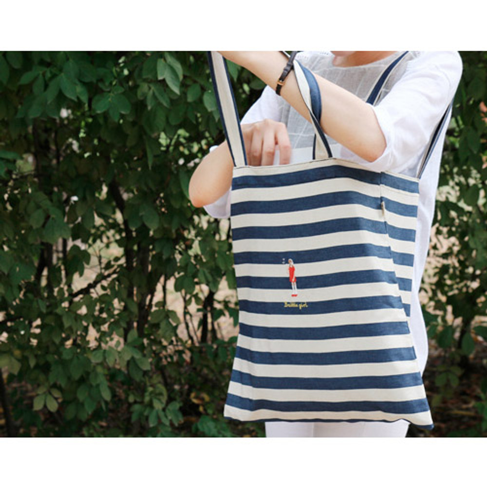 Bubble girl shoulder tote eco bag
