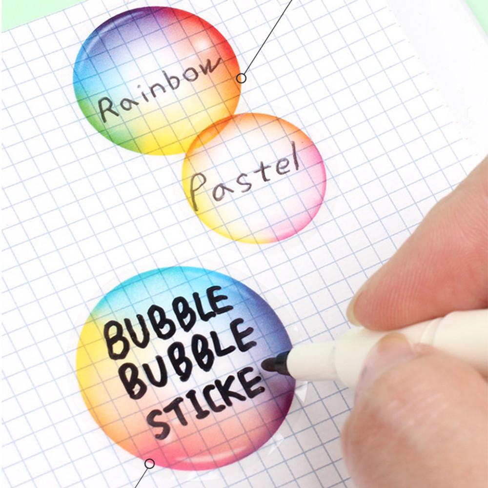 Bubble bubble PVC deco sticker