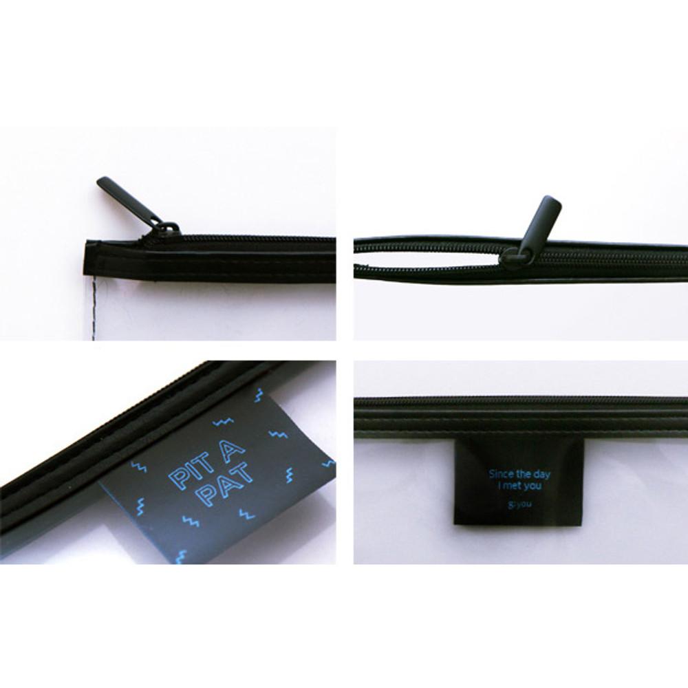 Detail of Pit a pat transparent zip lock clutch bag