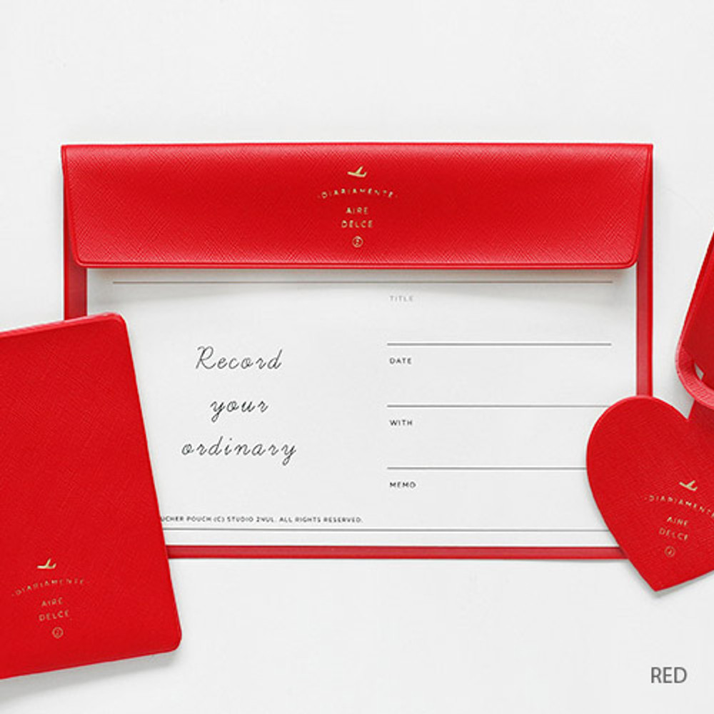 Red - Aire A5 size voucher flat pouch