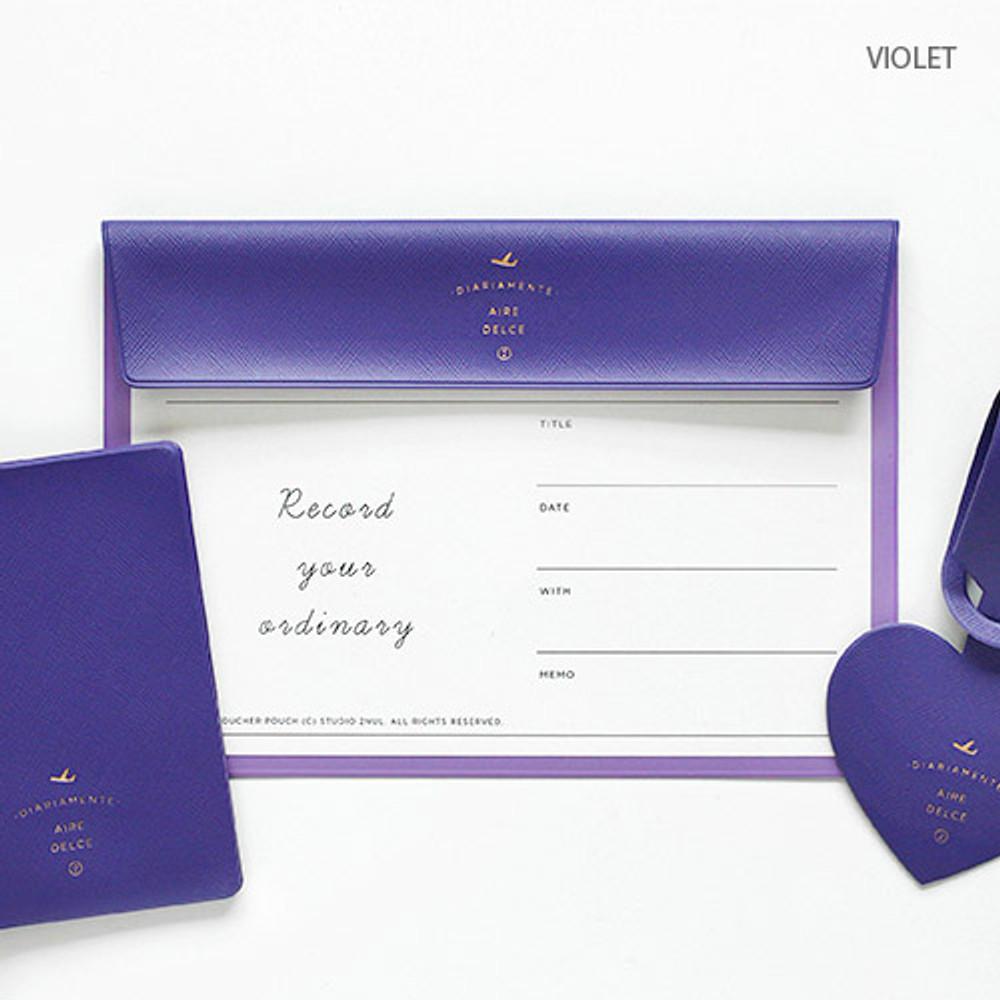 Violet - Aire A5 size voucher flat pouch