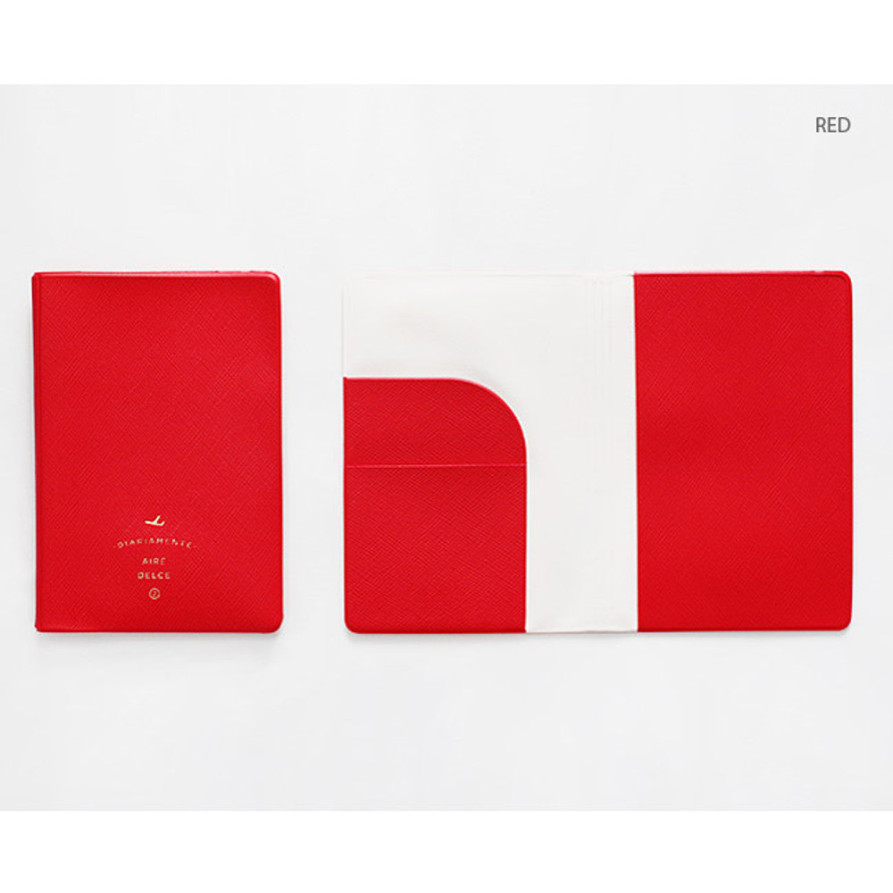 Red - Aire delce RFID blocking passport cover