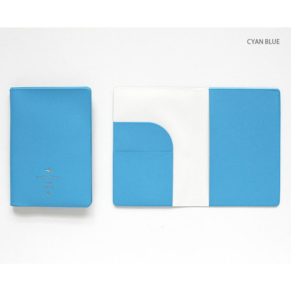 Cyan blue - Aire delce RFID blocking passport cover