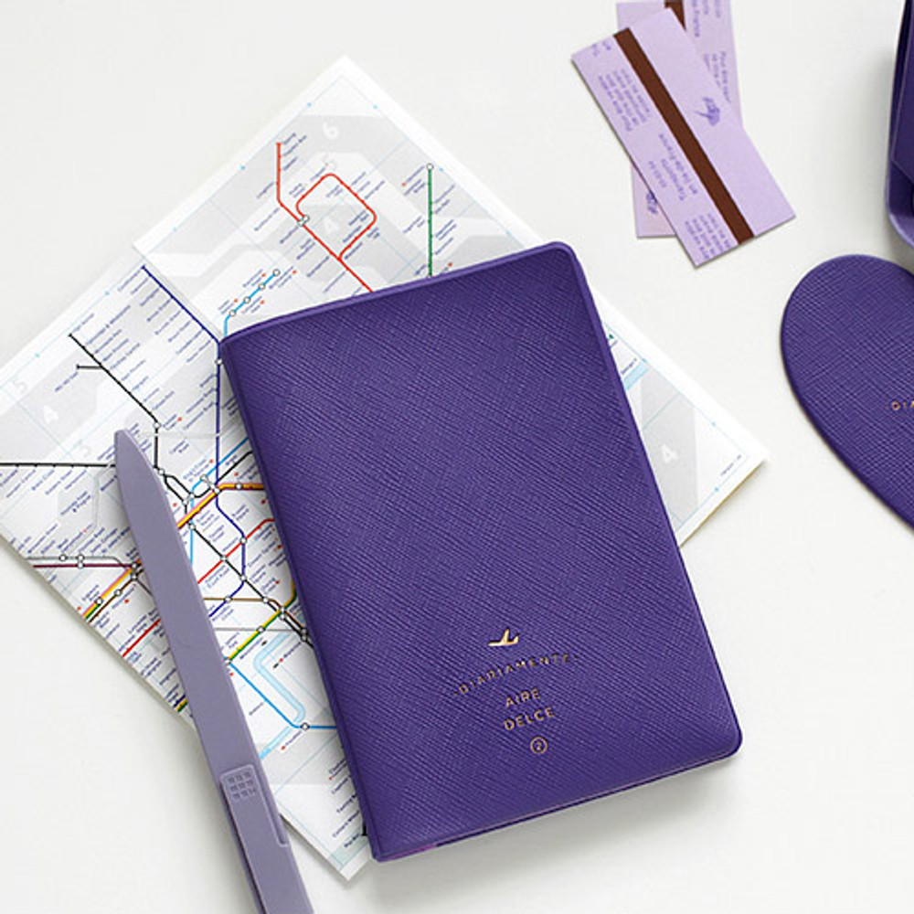 Violet - Aire delce RFID blocking passport cover