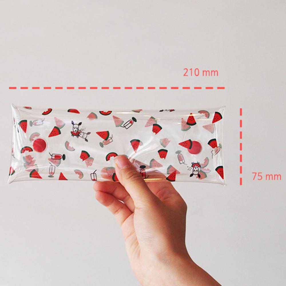 Size of Odong et valerie clear folding pencil case