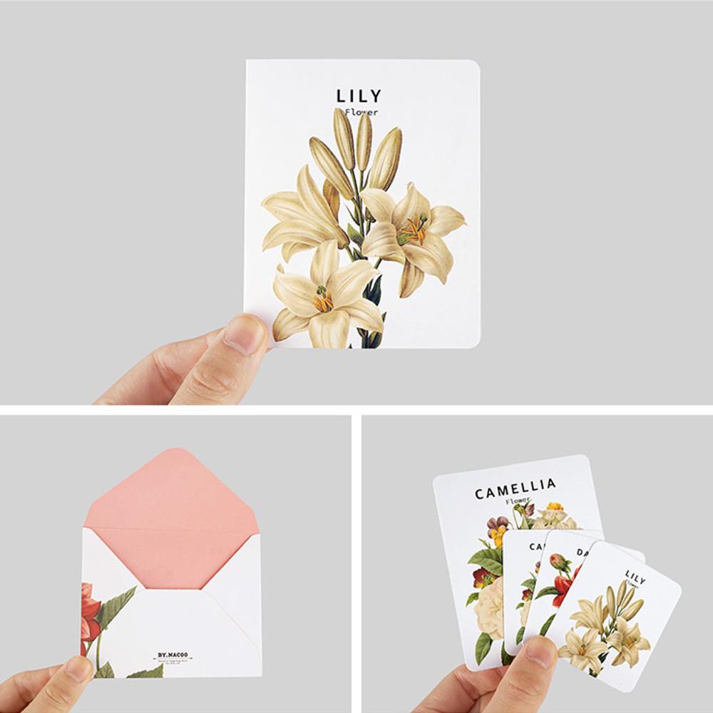 Detail of Flower illustration card set