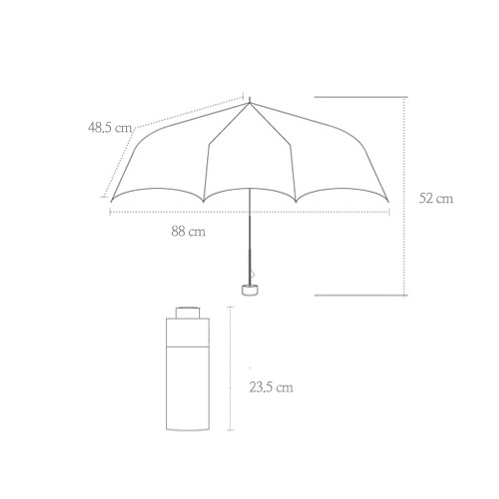 Size of Life studio compact foldable pattern umbrella