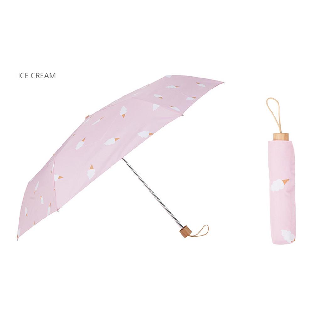 Ice cream - Life studio compact foldable pattern umbrella