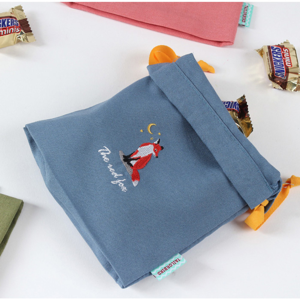 Fox - Tailorbird animal small drawstring pouch