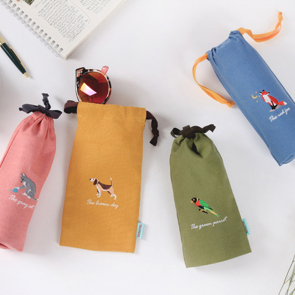 Tailorbird animal long drawstring pouch
