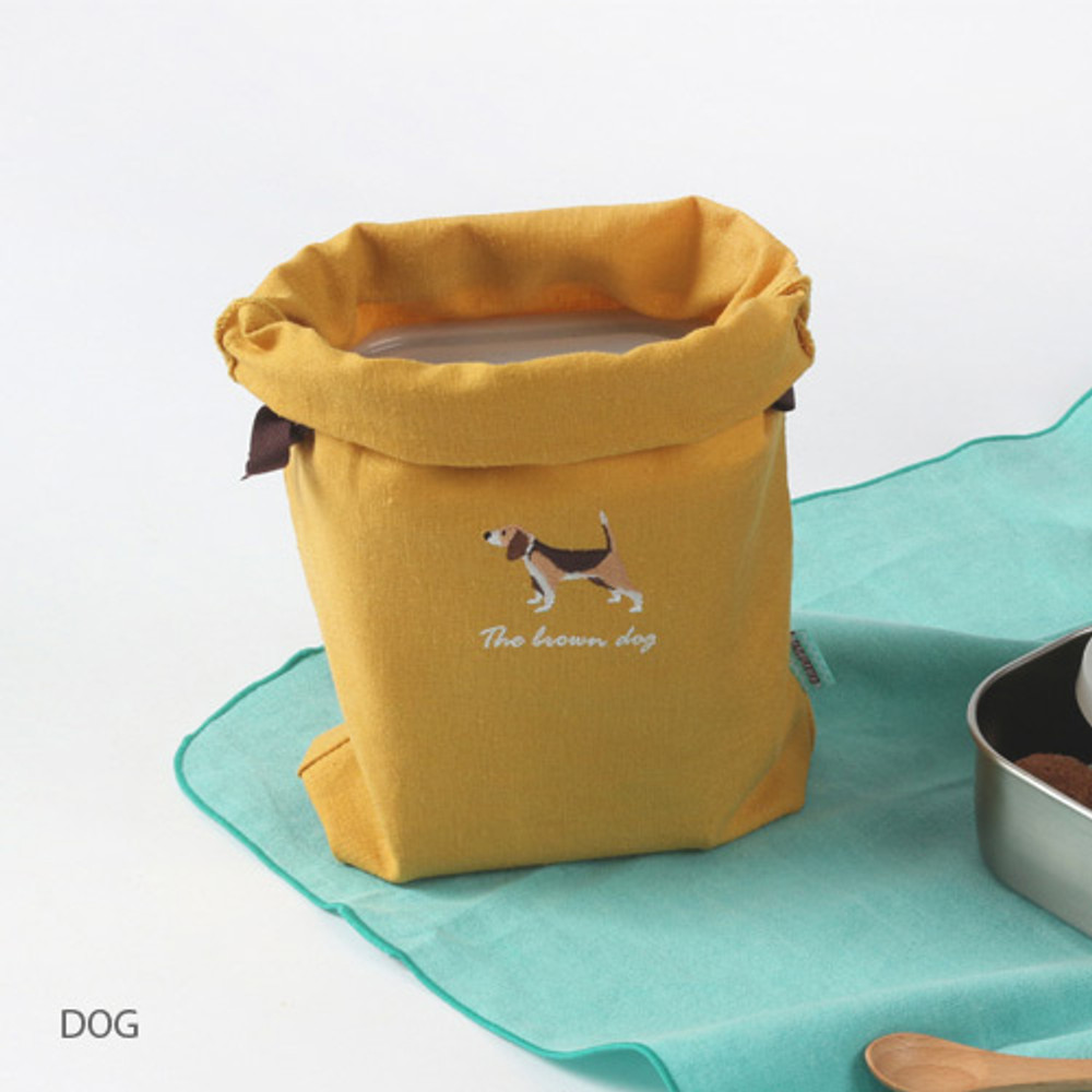 Dog - Tailorbird animal medium drawstring pouch