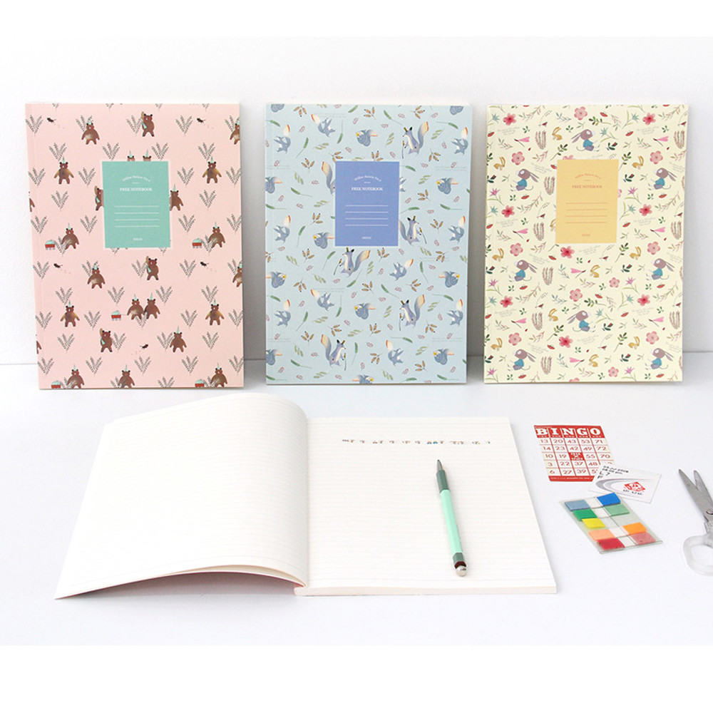Willow pattern classic free lined notebook ver.2