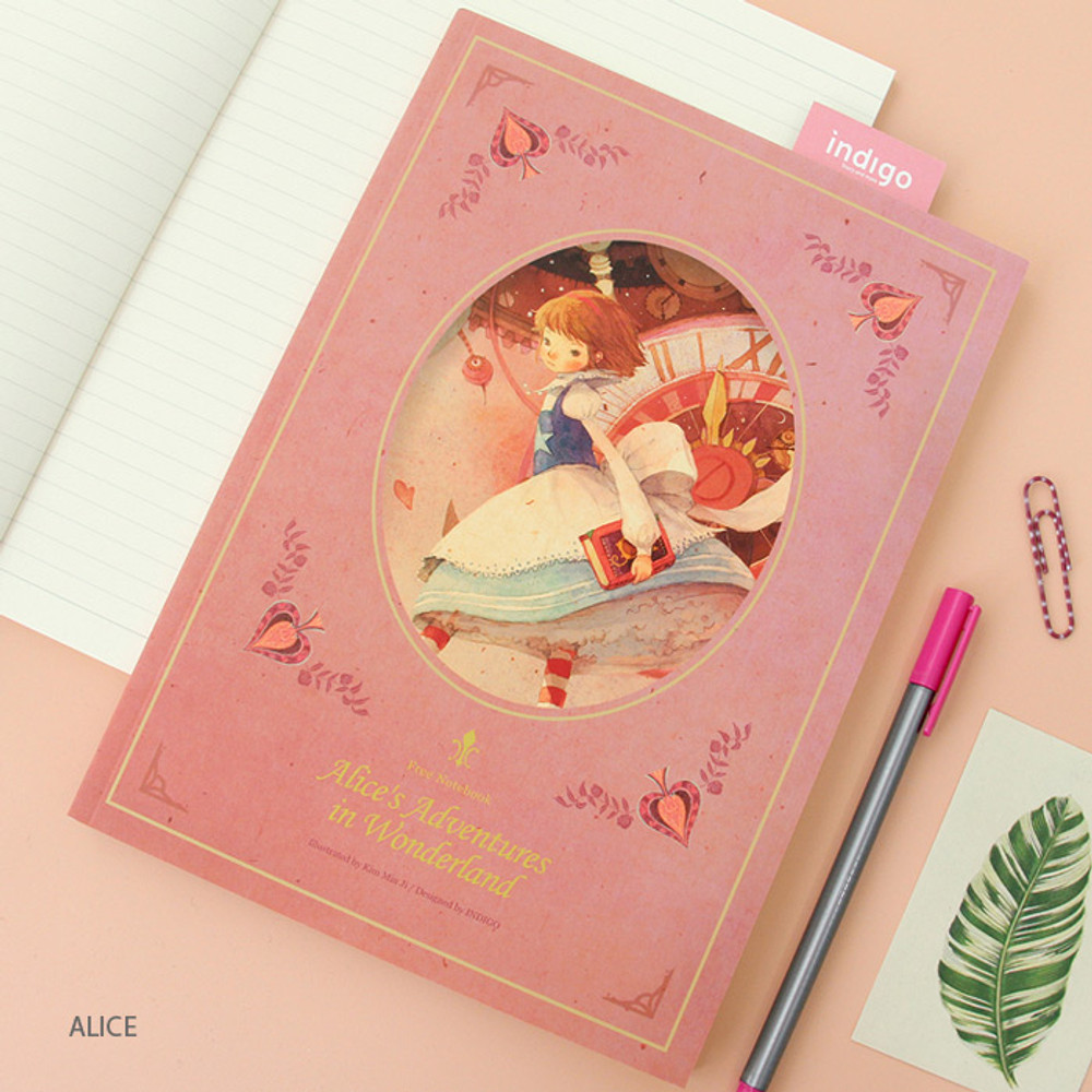 Alice - Classic story free lined notebook