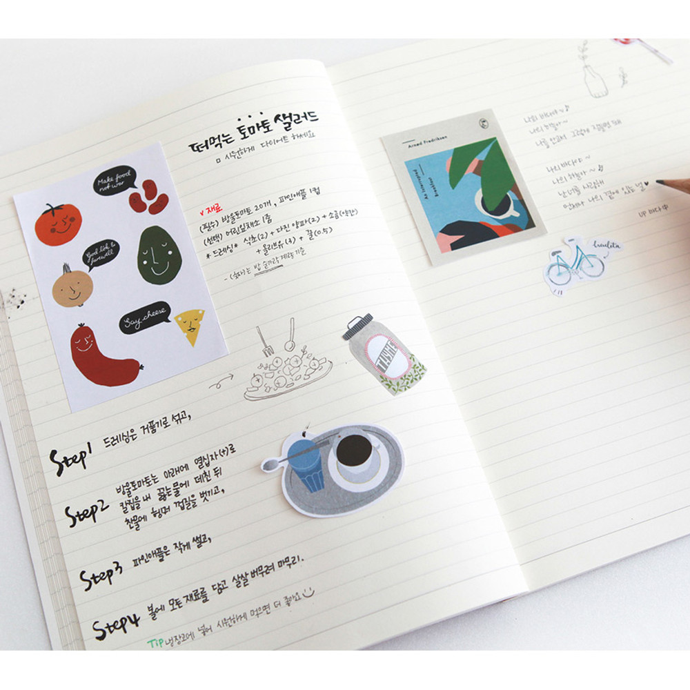 Example of use - Classic story free lined notebook