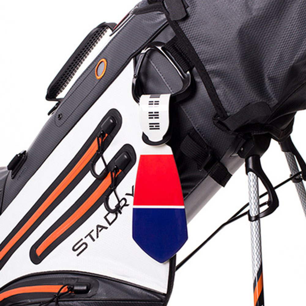 Example of use - Flag tie travel luggage name tag