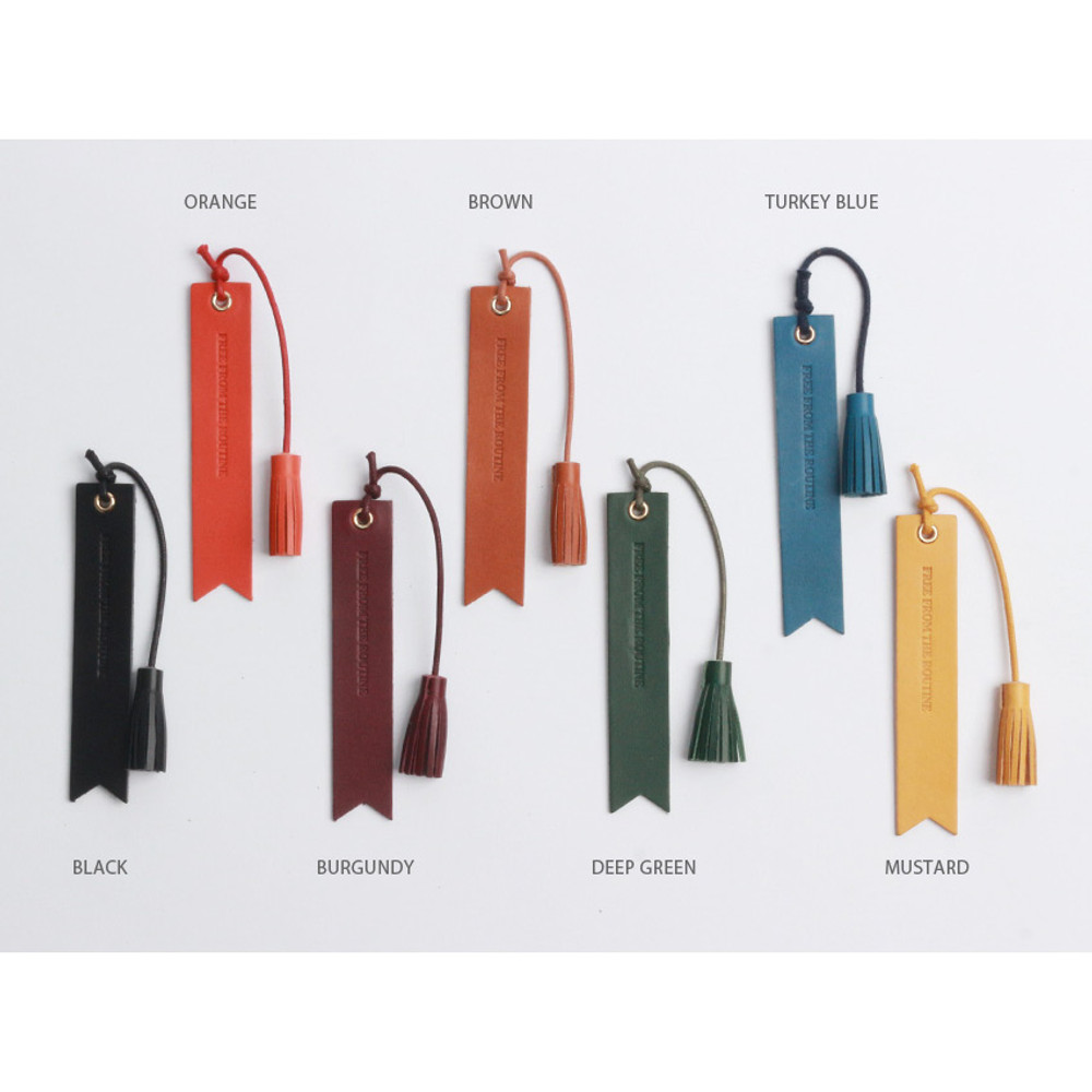Colors of The Classic leather bookmark with Tassel