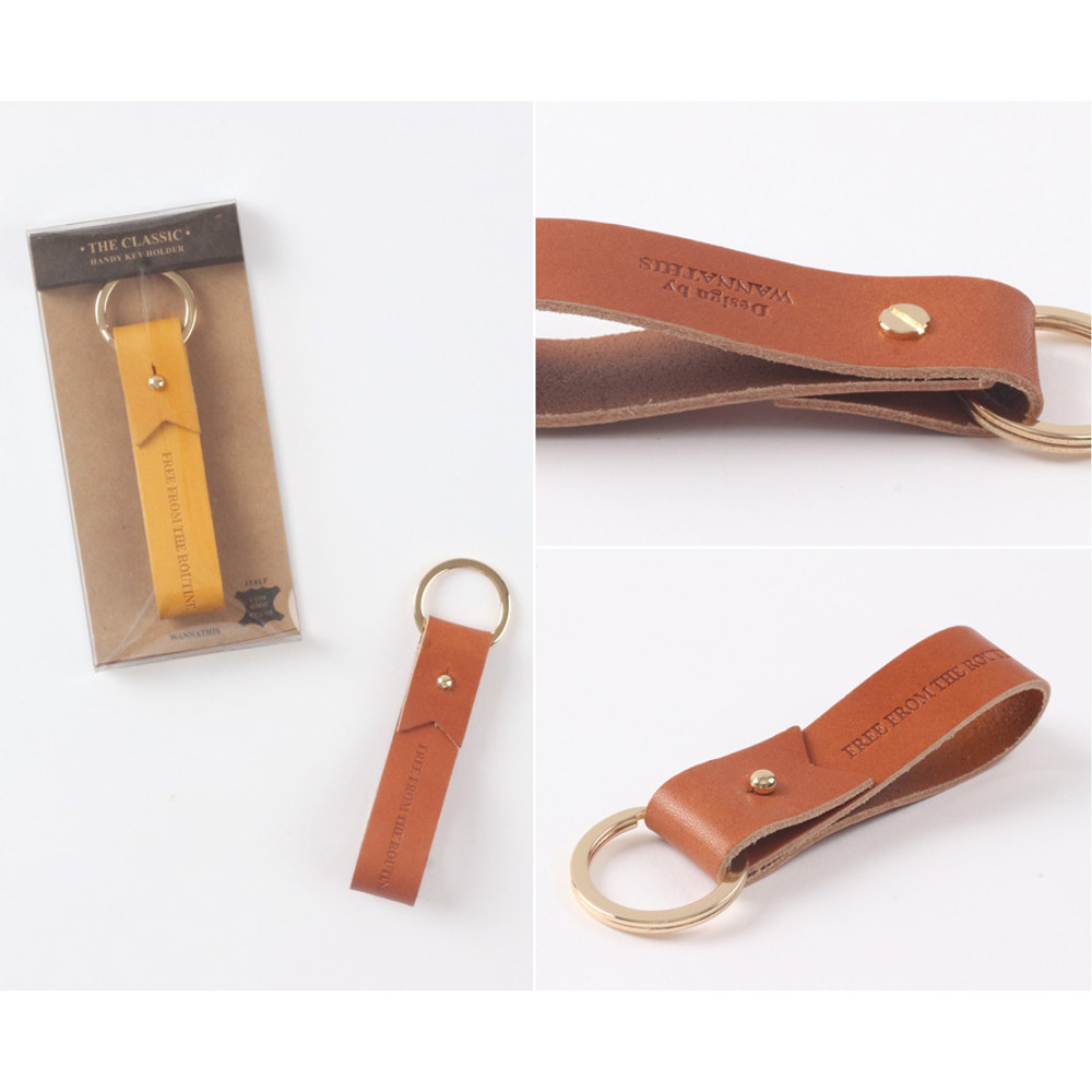 Detail of The Classic leather handy key holder