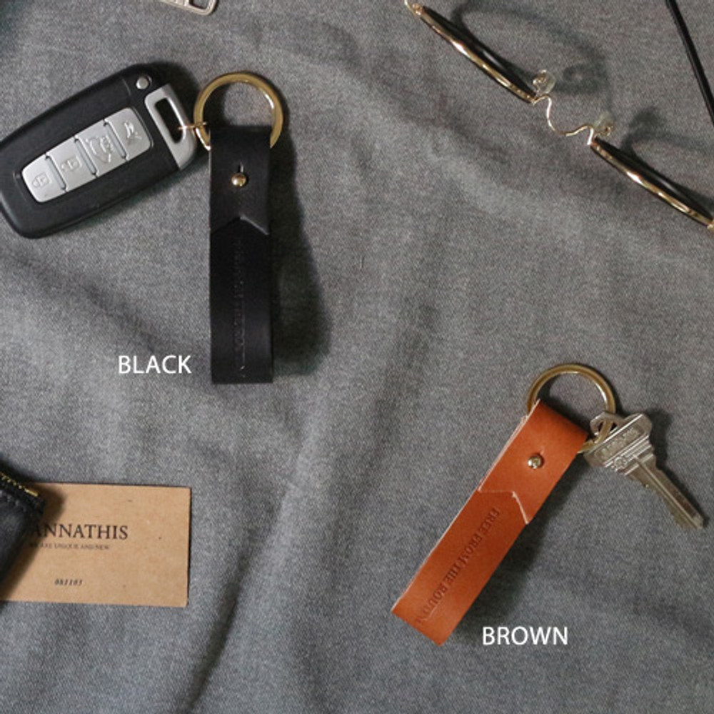 Black, Brown - The Classic leather handy key holder